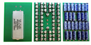 Aluminum electrolytic capacitor redesign saves space
